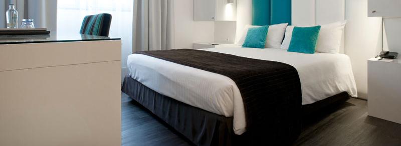 blauw zwart bed