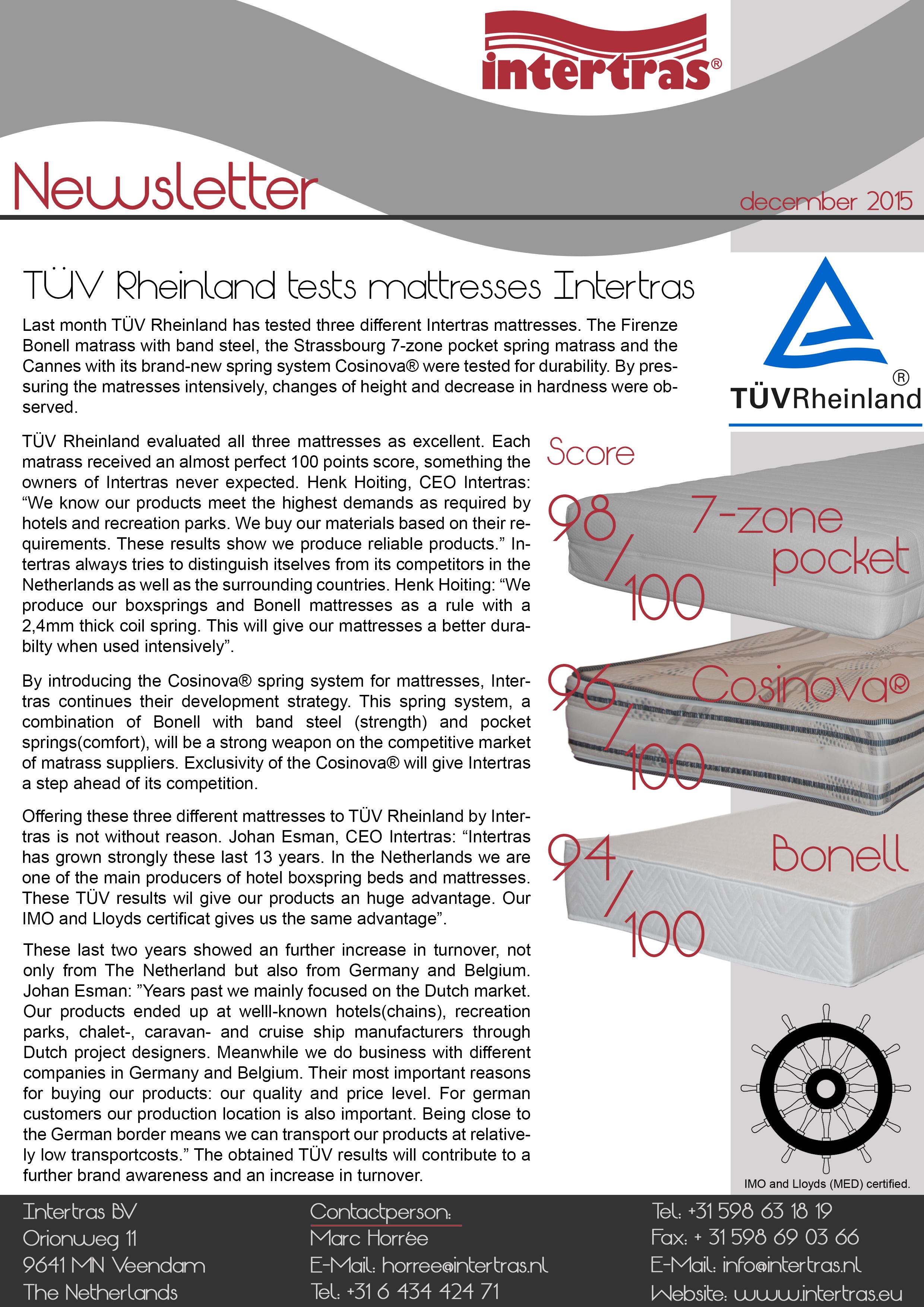 Intertras newsletter november 2015